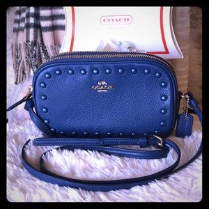 COACH SADIE CROSSBODY RIVETS BAG